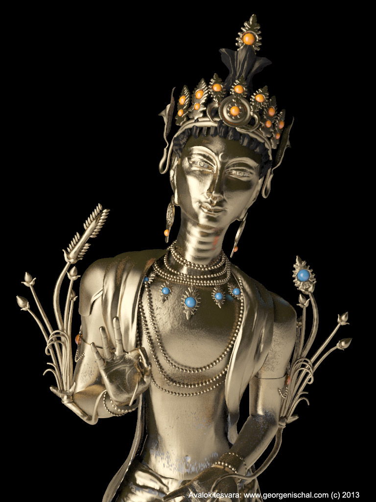 Avalokitesvara sculpture for 3D Print