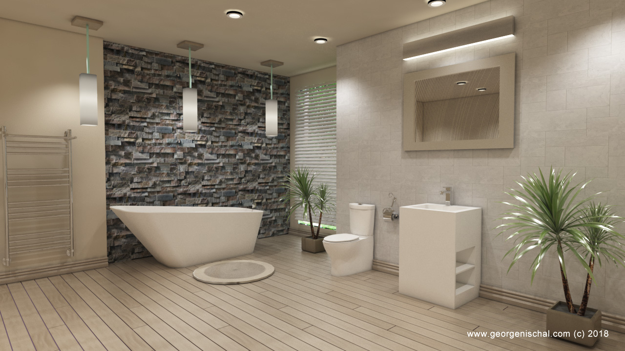 Photorealistic bathroom