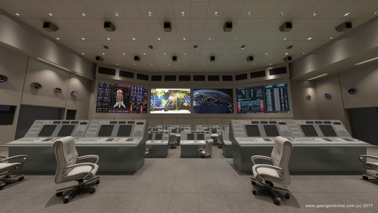 Nasa Control room Visualisation for VR