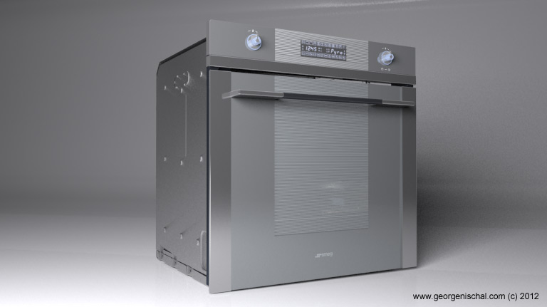 SMEG oven 3D visualisation