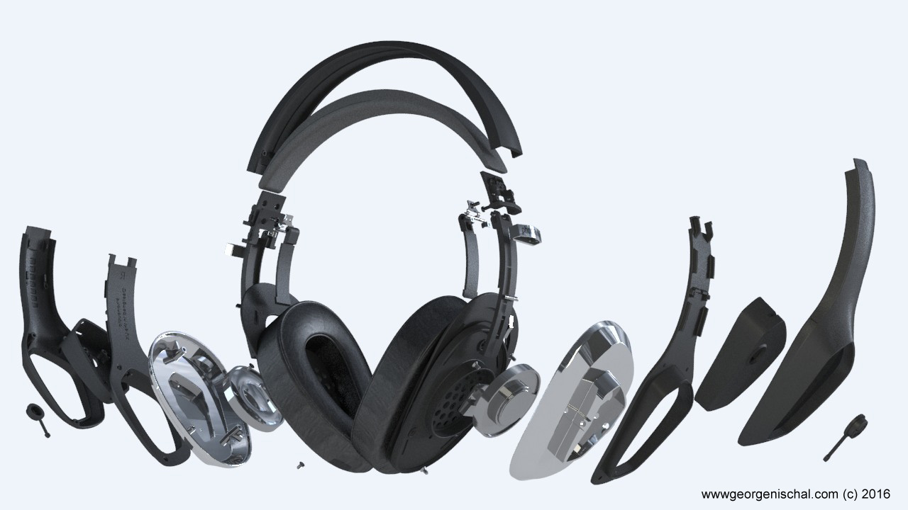 Phonaudio headphones Product Visualisation