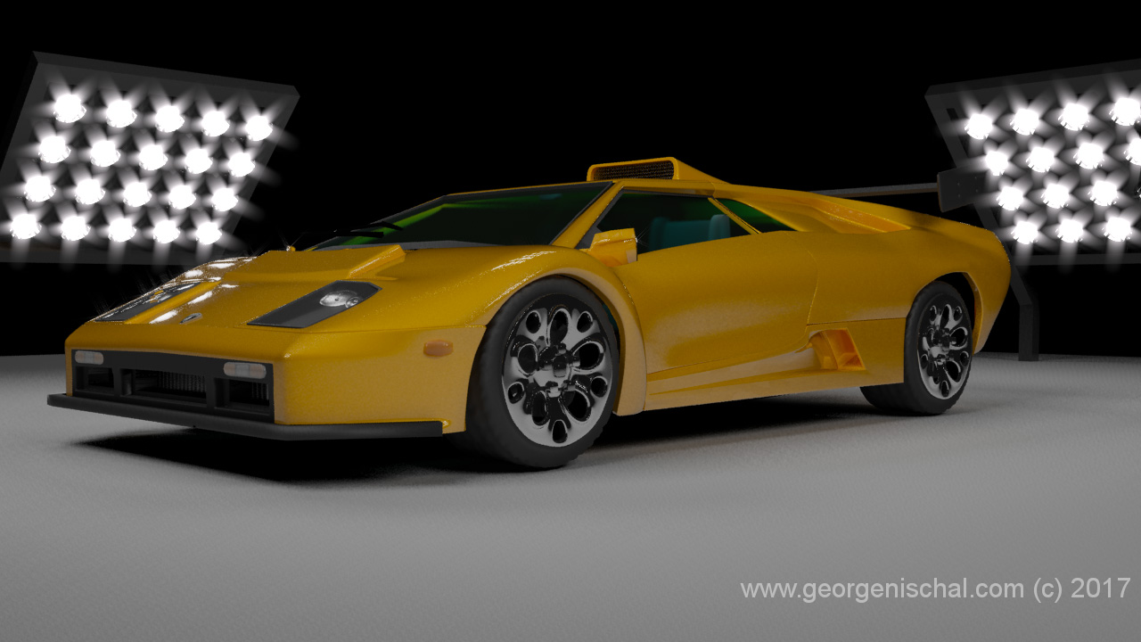 Lamborghini Diablo Car visualisation