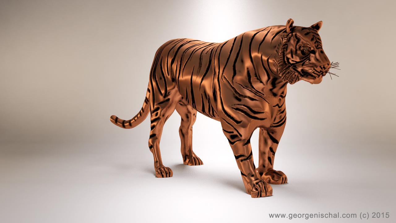 tiger 3d print model