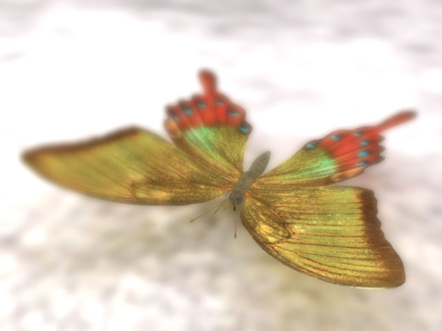 Winter Butterfly 3D model